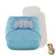 Rellenable Deluxe velcro absorbentes azul