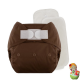 Rellenable Deluxe velcro absorbentes chocolate