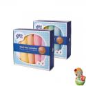 Pack de 5 gasas de colores de algodón orgánico XKKO