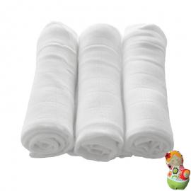 Pack de 3 gasas de bambú y algodón