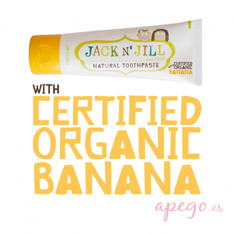 Pasta de dientes infantil natural Jack n' Jill Plátano