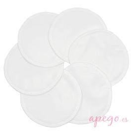Discos de lactancia lavables Imse Vimse siempre seco blanco