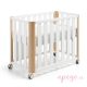 Minicuna/cuna Doco sleeping Cotinfant blanco natural