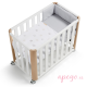 Minicuna/cuna Doco sleeping Cotinfant blanco natural star gris