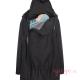 Abrigo de porteo Wallaby 2.0 negro gris cuello