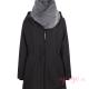 Abrigo de porteo Wallaby 2.0 negro gris sin panel frente cuello