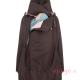 Abrigo de porteo Wallaby 2.0 marrón rosa cuello