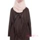 Abrigo de porteo Wallaby 2.0 marrón rosa con panel frente