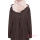 Abrigo de porteo Wallaby 2.0 marrón rosa sin panel frente cuello