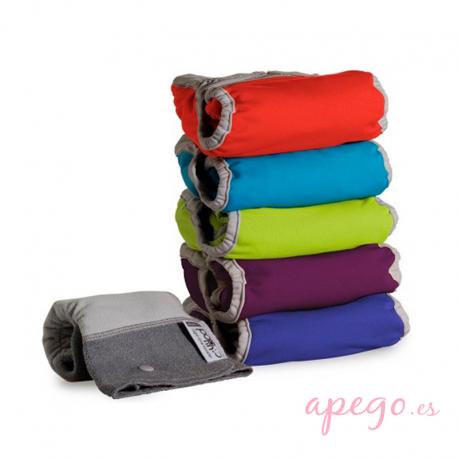 Pack 5 pañales Todo en Dos Pop in unitalla colores vivos