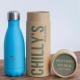 Botella Chilly's 260 ml azul pastel caja