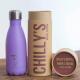 Botella Chilly's 260 ml lila pastel caja