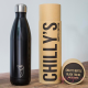 Botella Chilly's 750 ml negro mate caja