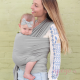 Fular Boba Wrap bamboo light grey