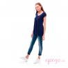 Camiseta premamá Ports de Mit Mat Mama azul tinta