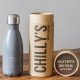 Botella Chilly's gris mate 260 ml caja