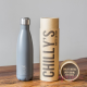 Botella Chilly's 500 ml gris mate caja