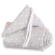 Protector para minicuna Original y cuna Babybay Estrellas gris y blanco