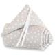 Protector para minicuna Babybay Trend Topos gris y blanco