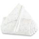 Protector para minicuna Babybay Trend Estrellas blanco y gris