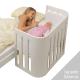 Minicuna Babybay Trend Lacado blanco
