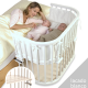 Minicuna Babybay Maxi Lacado blanco