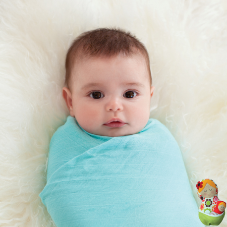 Muselinas Aden + Anais Bamboo Azure azul bebé