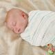 Muselinas Aden + Anais Bamboo Azure rayas bebé