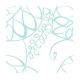 Muselinas Aden + Anais Bamboo Azure hojas