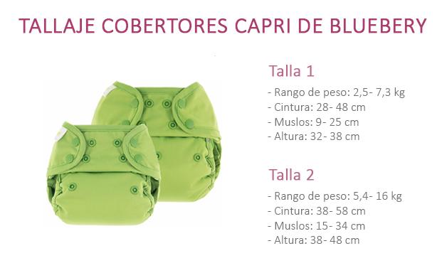 Tallas cobertores snaps Capri de Blueberry