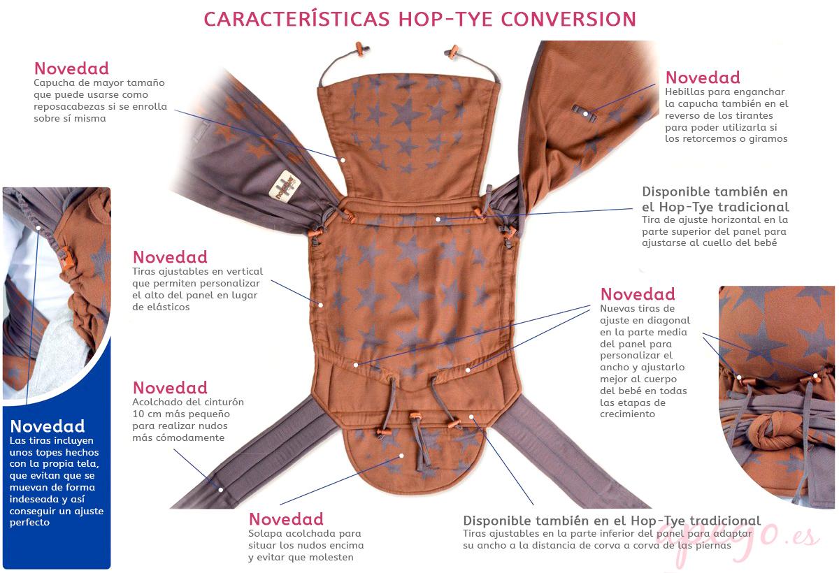 Características Hop-Tye Conversion Hoppediz