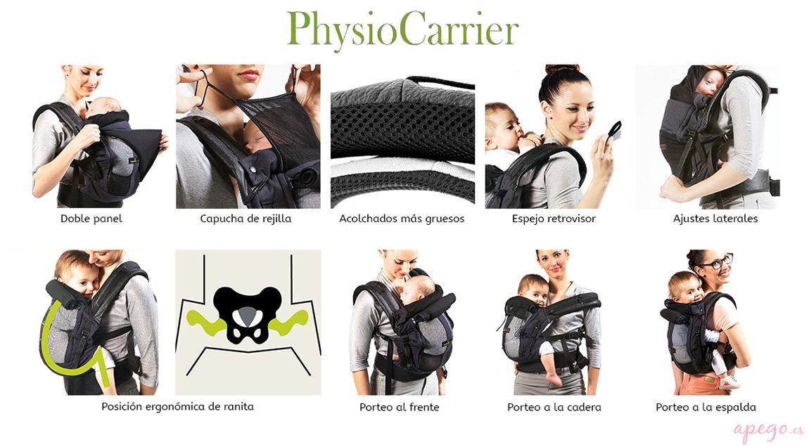 Características Physiocarrier Je porte mon bébé