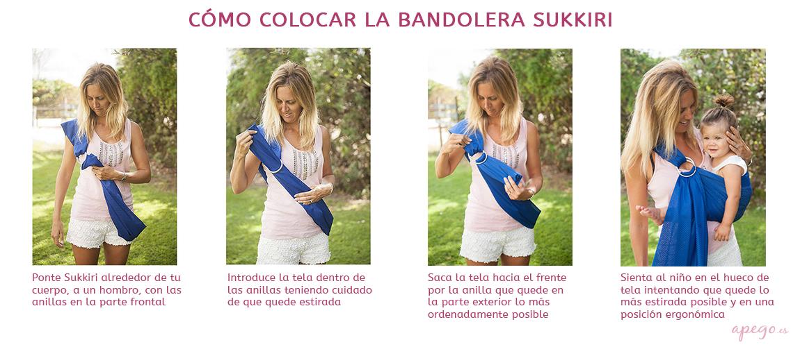 Cómo colocar la bandolera Sukkiri