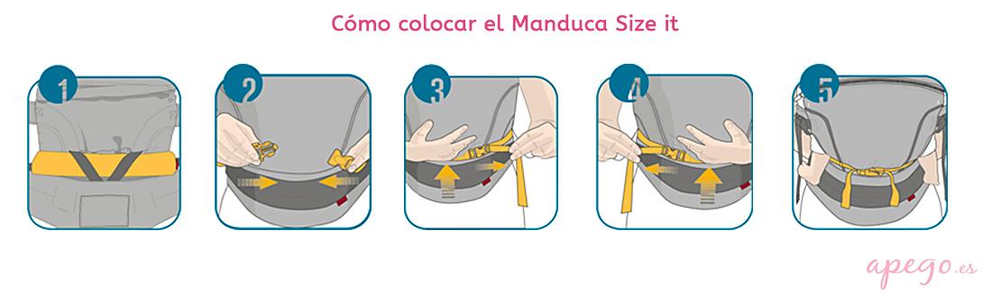 Cómo colocar el Manduca Size it