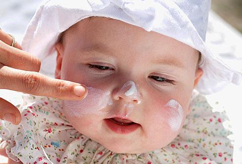 Crema solar para bebé