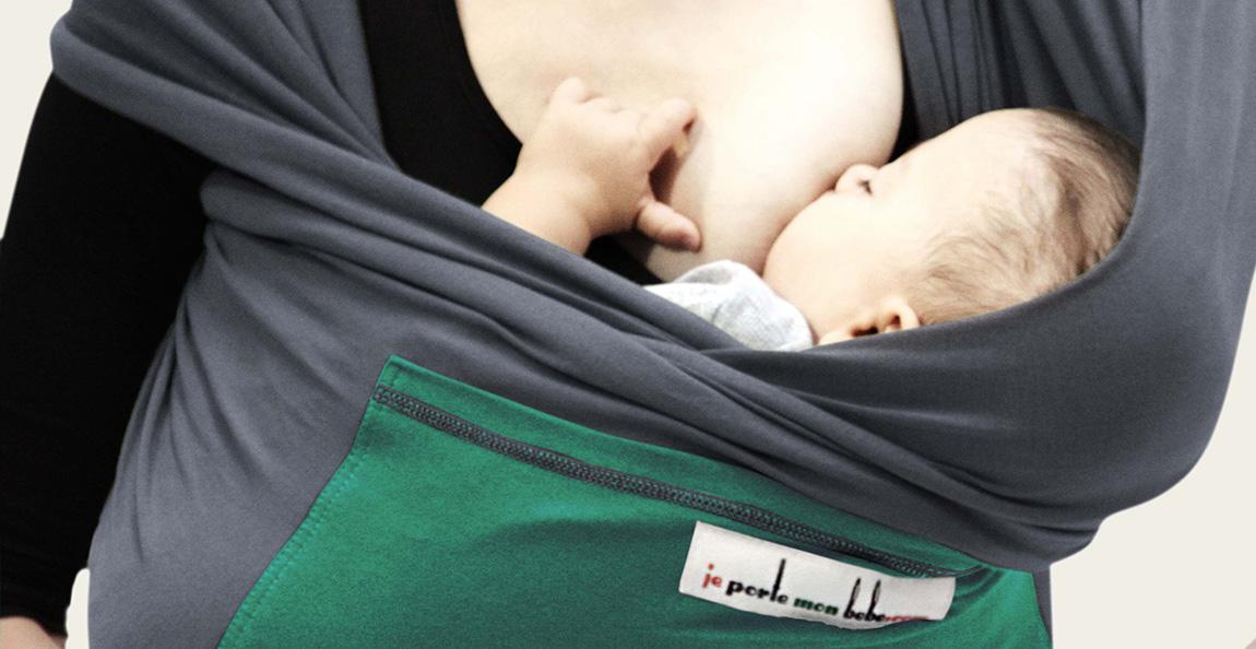 Fular Je porte mon bébé en posición cuna
