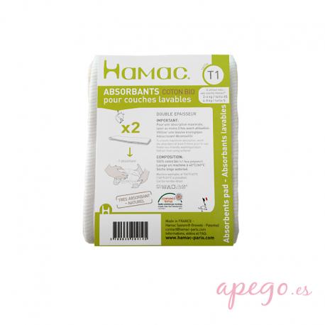 Absorbentes Hamac algodón y cáñamo talla 1