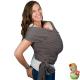 Fular portabebés elástico Boba Wrap organic dark gray