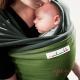 Fular elástico Je porte mon bébé gris verde pistacho