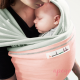 Fular elástico Je porte mon bébé sorbete menta rosa claro