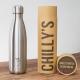 Botella Chilly's 500 ml inox caja