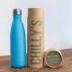 Botella Chilly's 500 ml azul pastel caja