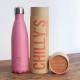 Botella Chilly's 500 ml rosa pastel caja
