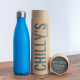 Botella Chilly's 500 ml azul neon caja