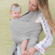 Fular elástico Boba Wrap bamboo light grey