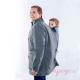 Abrigo de porteo para chico Bandicoot espalda gris y negro
