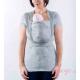 Camiseta de porteo Quokkababy gris perla recién nacido