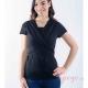 Camiseta de porteo Quokkababy negro sin bebé