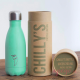 Botella Chilly's menta pastel 260 ml caja