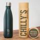 Botella Chilly's 500 ml verde mate caja